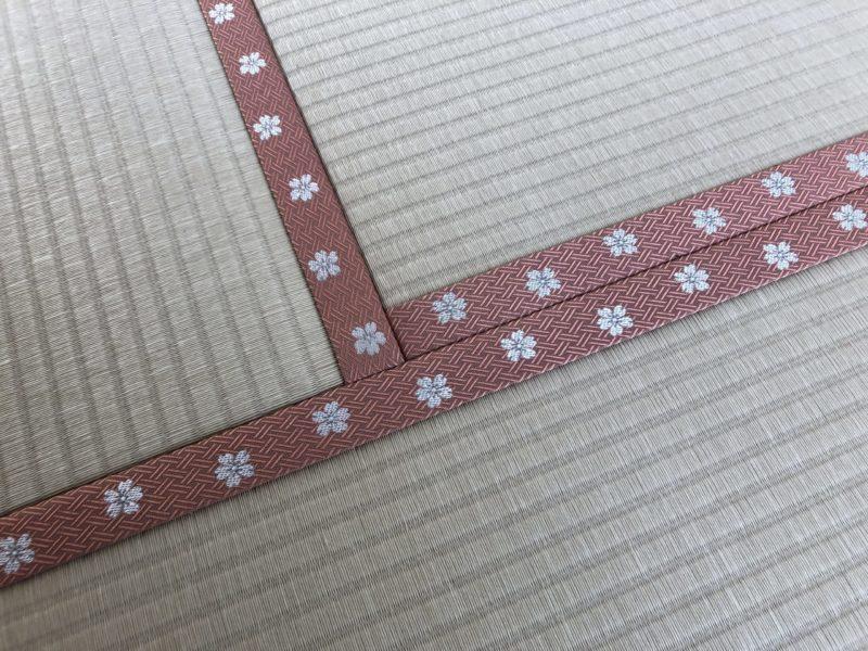136.畳縁、桜🌸の画像